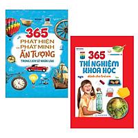 Combo 2 cuốn: 365 Phát Hiện Và Phát Minh Ấn Tượng Trong Lịch Sử Nhân Loại + 365 Thí Nghiệm Khoa Học Dành Cho Trẻ Em