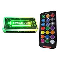 Bộ Hub RGB Coolmoon Kèm Điều Khiển Của Quạt Tản Nhiệt LED RGB Coolmoon - Hàng nhập khẩu