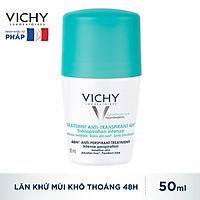 Lăn Khử Mùi Vichy Ngăn Mồ Hôi Giữ Khô Thoáng Suốt 48h Traitement Anti- Transpirant 50ml