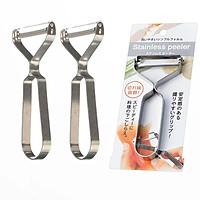 Bộ 3 nạo củ quả inox lưỡi xoay tay cầm chữ Y (mẫu mới) - Hàng nội địa Nhật