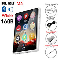 RUIZU M6 Portable Audio Music Player Bluetooth MP3 Player Full Touch Screen 8GB/16GB Audio Player Built-in Speaker Support E-Book Video Player