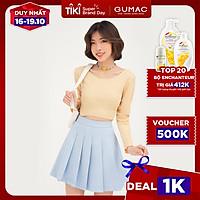 Chân váy ngắn nữ xếp ly GUMAC phong cách Hàn Quốc năng động VB443