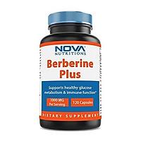 Nova Nutritions Berberine Plus 1000 mg per Serving (Non-GMO) 120 Capsules - Promotes Healthy Blood Sugar Level