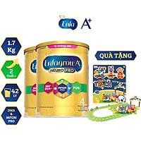 Bộ 2 Lon Sữa Bột Enfagrow A+ Neuropro 4 Cho Trẻ Từ 2 – 6 Tuổi (1.7kg) - Tặng Đồ Chơi Đoàn Tàu Gấu Koala