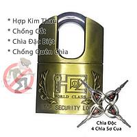 Ổ Khóa Chống Cắt 60mm KhoNCC-Padlock Hàng Chính Hãng Cho Gia Đình - Kho Xưởng Cực Kỳ An Toàn - KPD-Padlock-6PCC (Màu Đồng Thau)