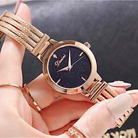 Đồng hồ nữ dây thép mặt đá Sapphire Dimini D5266 chống nước chống xước sang trọng cao cấp