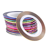 Combo 30 cuộn dây decal dán móng tay nghệ thuật nail art nhiều màu siêu đẹp lấp lánh - Dụng cụ làm nail