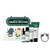 Bộ Kit 4 Món Dưỡng Da Làm Giảm Mụn Some By Mi AHA - BHA - PHA 30 Days Miracle Solution 4- Step Kit +Tặng Kèm 1 Băng Đô Tai Mèo (Màu Ngẫu Nhiên)