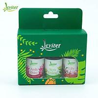 Combo 3 chai Tinh Dầu Leviter Gợi Cảm 10ml Hương Anh Đào, Sen Trắng, Lily giúp khử mùi, tăng sự gợi cảm cho không gian thơm mát