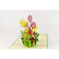 Thiệp 3D Hoa - Cả một vườn hồng Size nhỏ - NV54