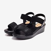 Sandal nữ Đế Xuồng Cao 5cm-DPW0635DEN