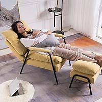 Ghế sofa thư giãn kèm đôn, chân sắt đen GNK014