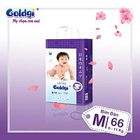 Bỉm dán GOLDGI+ Size M 66 miếng (cho trẻ từ 6-11kg)