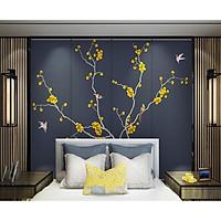Tranh dán tường canvas hình hoa hiện đại ADH8567