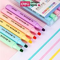 Bút dấu dòng dạ quang màu Macaron Deli – 6 chiếc/ hộp- S605
