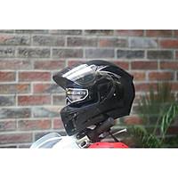 Mũ bảo hiểm trùm đầu Fullface R0C 05 2 kính đen bóng