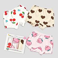 Set 3 quần chip đùi cho bé gái U6002 - Unifriend Hàn Quốc, Cotton Organic
