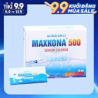 Hộp muối sinh lý súc họng, rửa xoang mũi nhập khẩu New Zealand cho bé và người lớn Maxkona 500| hỗ trợ điều trị viêm mũi, viêm họng, sổ mũi, viêm mũi dị ứng, viêm xoang (30 gói)