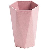 Combo 2 Cốc nhựa chịu nhiệt lúa mạch nhiều màu hình lục giác đẹp mắt