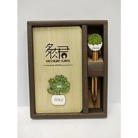 Sổ tay gỗ Succulent Plants