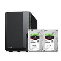 Combo: Thiết bị lưu trữ qua mạng DS220+  & 2 x Seagate HDD ST2000VN004 (Hàng chính hãng)
