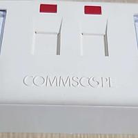 Ổ cắm đôi 2 cổng mạng cat5e AMP/Commscope