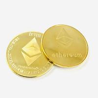 Xu kỷ niệm Ethereum Vàng Dùng để sưu tầm, giải trí trang trí bàn sách, bàn làm việc, làm quà tặng dễ thương ý nghĩa, kích thước 4cm, màu vàng - TMT Collection - SP005310