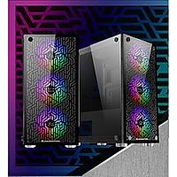 Vỏ máy tính CASE XIGMATEK NYX 3F lắp sẵn 3 fan led -Hàng chính hãng