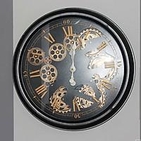 Đồng hồ treo tường bánh răng màu đen