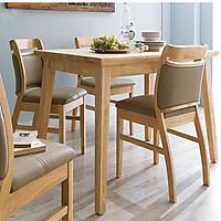 Bộ bàn ghế ăn gỗ giá rẻ kèm 4 ghế