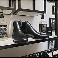 Giày kéo khóa, giày bốt nam [ tặng lót tăng chiều cao
