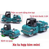 Đồ chơi mô hình xe lu mini KAVY NO.8809 kim loại an toàn cho bé, cỏ thể trang trí - màu xanh