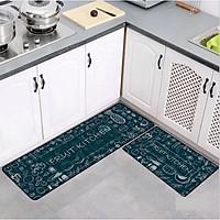 Bộ 2 thảm bếp nhà bếp 40X60 + 40X120 cm cao cấp chống trượt