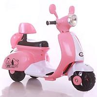 Xe máy điện trẻ em chú chó Puppy màu hồng BBT Global BBT-689H