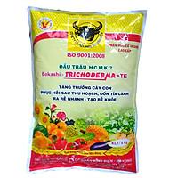 Phân bón hữu cơ vi sinh Đầu Trâu HCMK7 - ngừa bệnh cải tạo và tốt đất (túi 5kg)