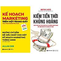Combo Kĩ Năng Kinh Dooanh Để Bứt Phá Trong Thời Đại Mới: Cuốn Sách Kinh Tế Bán Chạy Của Allan Dib -  Kế Hoạch Marketing Trên Một - Trang - Giấy + Kiếm Tiền Thời Khủng Hoảng - Thoát Khỏi Các Trò Lừa Đảo Khi Thị Trường Chứng Khoán, Bất Động Sản Và Tài Chính Suy Thoái (Tái Bản 2020) ( Top Sách  Kinh Tế Được Săn Đón Nhiều Nhất)