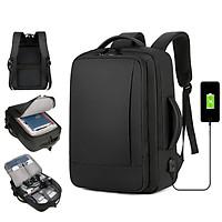 Balo Nam Cao Cấp Đựng Laptop đi làm đi học Ohazo Đa Chức Năng, Chống Nước, Chống Xước - Tặng kèm cáp sạc USB - BL145