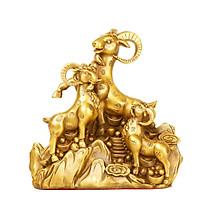 Tượng linh vật tam dương dê khai thái bằng đồng thau phong thủy Tâm Thành Phát