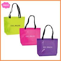 Túi xách Tote nhựa trong thời trang màu đẹp không thấm nước dùng đựng đồ đi làm đi chơi đi du lịch tiện dụng (1 túi)