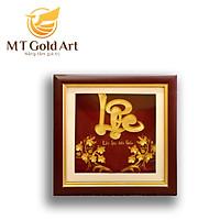Tranh Chữ Lộc dát vàng (20x20cm) MT Gold Art- Hàng chính hãng, trang trí nhà cửa, phòng làm việc, quà tặng sếp, đối tác, khách hàng, tân gia, khai trương