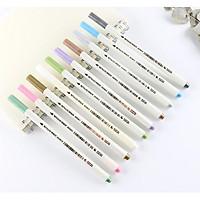 Bộ 10 bút lông có nhũ 10 màu đầu Brush Metallic MarkerPenDrawing