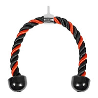 Triceps Rope Pulley Cable Attachment Pull Down LAT Biceps Handle Red 70cm