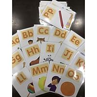 Alphabet flashcard - Flashcard bảng chữ cái - 26 thẻ