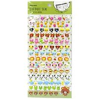 Sticker Moshi 006 - Mẫu 1 - Hình Nhiều Loài Vật