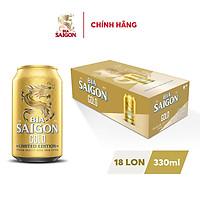 Thùng 18 Lon Bia Sài Gòn GOLD 330ml