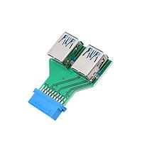 Bộ Chuyển Đổi Bo Mạch Chủ Máy Tính Để Bàn 19pin / 20pin Đến 2 Cổng USB 3.0 A Female