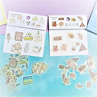 Combo 2 Bộ 32 Sticker Hình Dán Mini Cửa Tiệm, Thư  Và Note