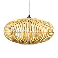 Đèn tre tròn 1 lớp Vuadecor Đèn trang trí thả trần - Bamboo Lamp