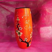 Bình cắm hoa tài lộc màu cam