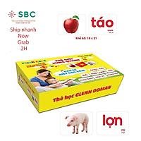 Thẻ học thông minh TGXQ size A5 15x21cm 100 thẻ 15 chủ đề ivory 400 flashcard